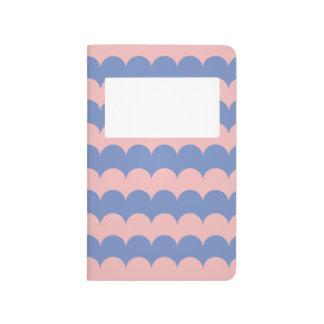 Serenidad y diario del cuarzo color de rosa cuaderno grapado