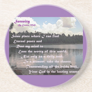 Serenity - A Poem Sandstone Coaster