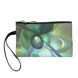 Serenity Achieved Abstract Coin Purses
