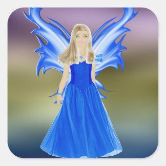 Serenity Angel Square Sticker