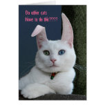 Serenity as Bunny card - customized