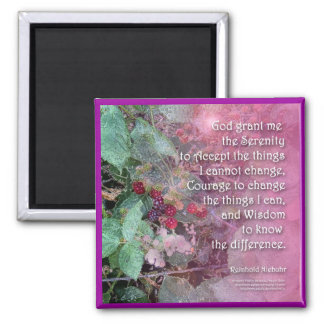Serenity Blackberry Magnet