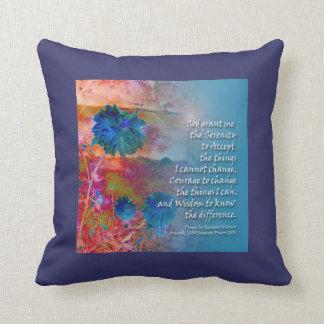 Serenity Blue Flowers American MoJo Pillow