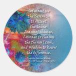 Serenity Blue Flowers Sticker