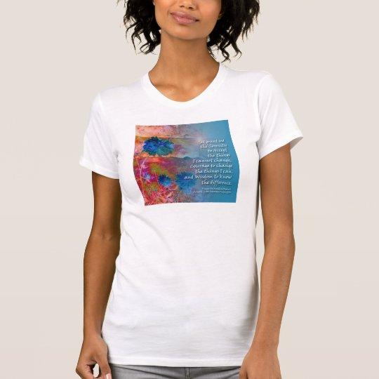 Serenity Blue Flowers T-Shirt
