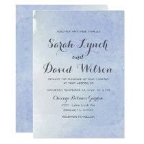 serenity blue Watercolor Wedding Card