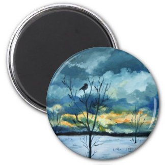 """""""Serenity"""" by Hilary J England 2 Inch Round Magnet"""