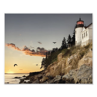 Serenity by the Sea Shore - Lighthouse Print Photographic Print
