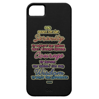 Serenity Courage Wisdom Colorful Text iPhone SE/5/5s Case