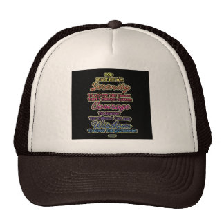 Serenity Courage Wisdom Colorful Text Trucker Hat