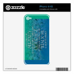 Serenity, Courage, Wisdom Decals For iPhone 4S