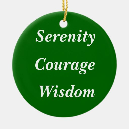 Serenity, Courage, Wisdom Double-Sided Ceramic Round Christmas Ornament