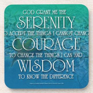 Serenity, Courage, Wisdom Drink Coaster