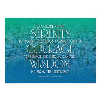 "Serenity, Courage, Wisdom 5"" X 7"" Invitation Card"