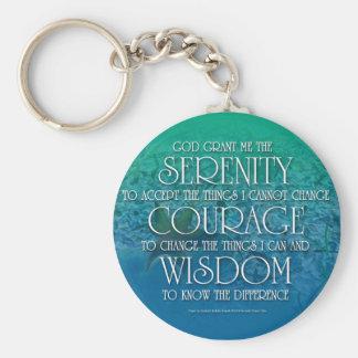 Serenity, Courage, Wisdom Keychains