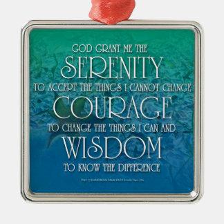 Serenity, Courage, Wisdom Metal Ornament