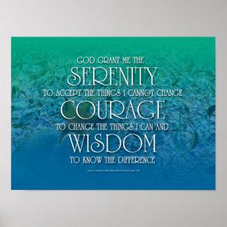 Serenity, Courage, Wisdom Poster