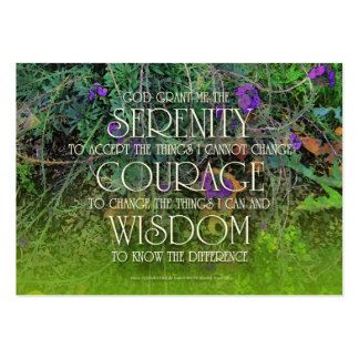 Serenity, Courage, Wisdom Prayer Card Large Business Card