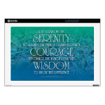 """Serenity, Courage, Wisdom Skins For 17"""" Laptops"""
