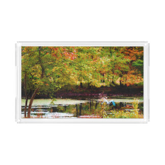 Serenity (Digital Oil on Canvas Simulation) Rectangle Serving Trays