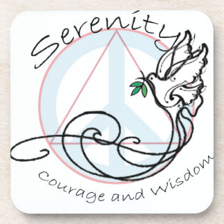 Serenity Dove Drink Coaster