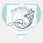 Serenity Dove Heart Sticker