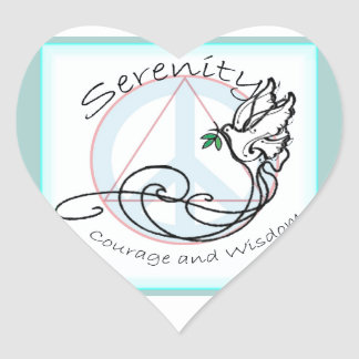 Serenity Dove Heart Sticker