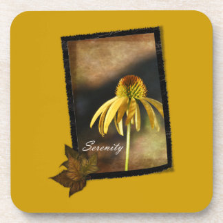 Serenity Echinacea Floral Drink Coaster