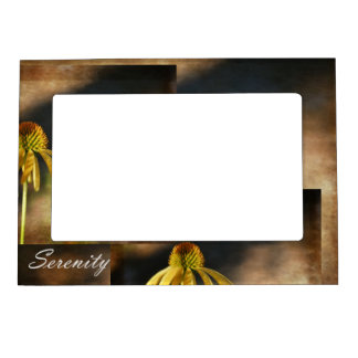 Serenity Echinacea Floral Magnetic Photo Frame