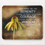 Serenity Echinacea Floral Mousepad