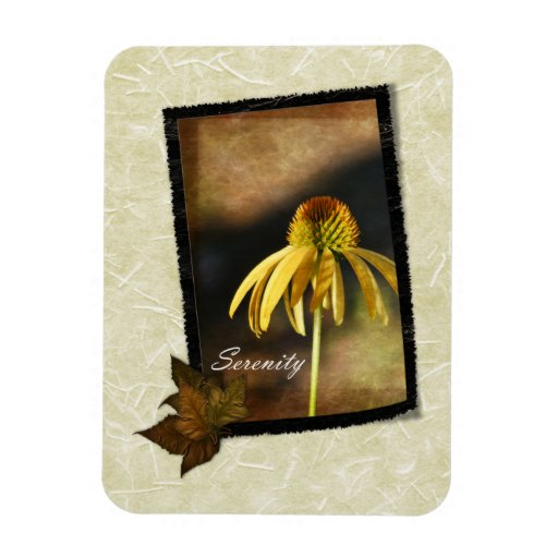 Serenity Echinacea Floral Rectangular Photo Magnet