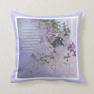 Serenity Fence Flowers American MoJo Pillow