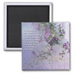Serenity Fence Flowers Magnet