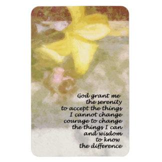 Serenity Floral Rectangular Photo Magnet