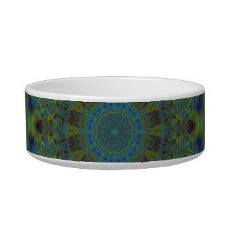Serenity Fractal Kaleidoscope Pet Bowl