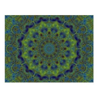 Serenity Fractal Kaleidoscope Postcards