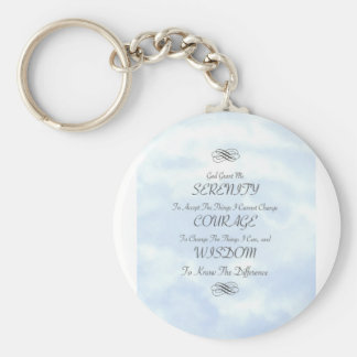 Serenity in The Clouds Basic Round Button Keychain