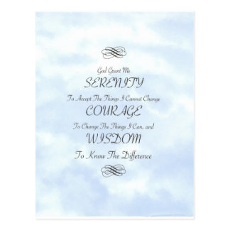 Serenity in The Clouds Postcard