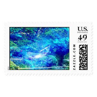 Serenity in the Garden Postage Stamp