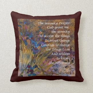 Serenity Irises Brown Pillow