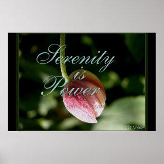 """Serenity is Power"" Art Print Mini Poster (Matte)"