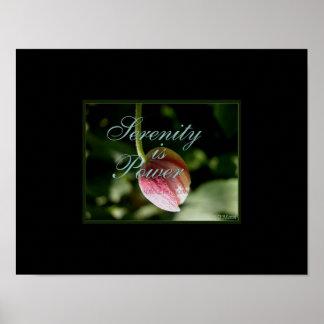 """Serenity is Power"" Art Print Poster (Matte)"