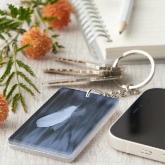 Serenity Single-Sided Rectangular Acrylic Keychain