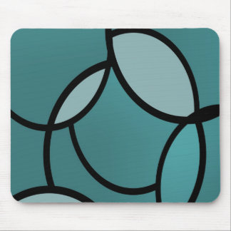 Serenity light blue and black mouse pad