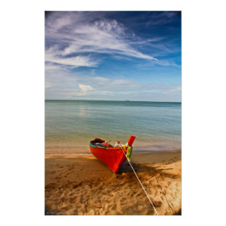 """Serenity - Little Red Boat"" Photograph Print"