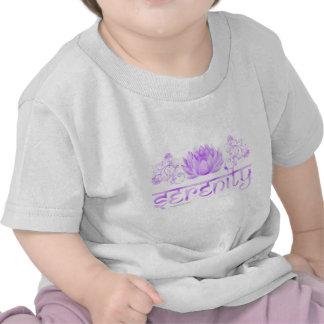 Serenity lotus in purple shirt