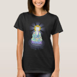 Serenity Meow Buddha Cat Lotus Shirt