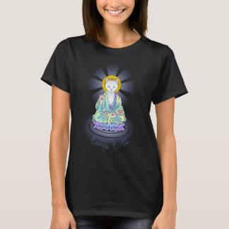 Serenity Meow Buddha Cat Lotus Shirt