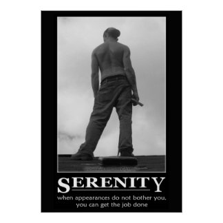 Serenity Motivational Poster