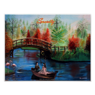 SERENITY Oil Painting Poster